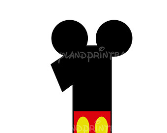 Mickey Mouse clipart one #3