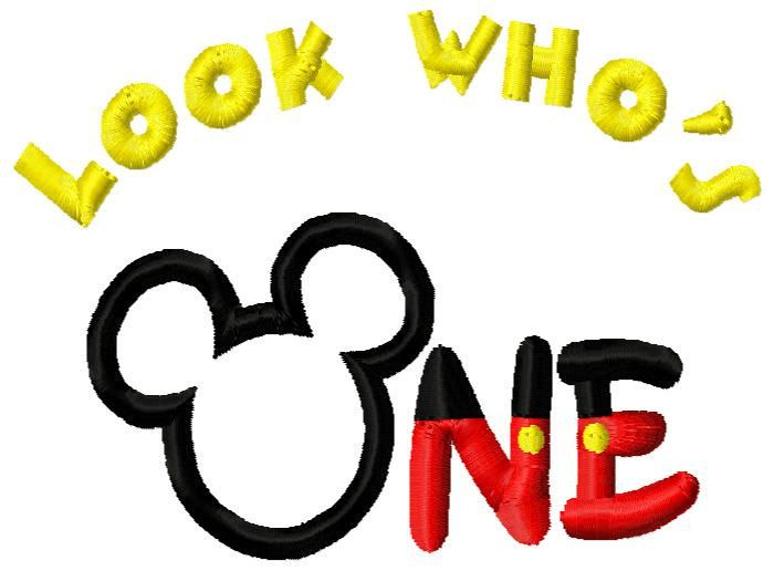 Mickey Mouse clipart one #7