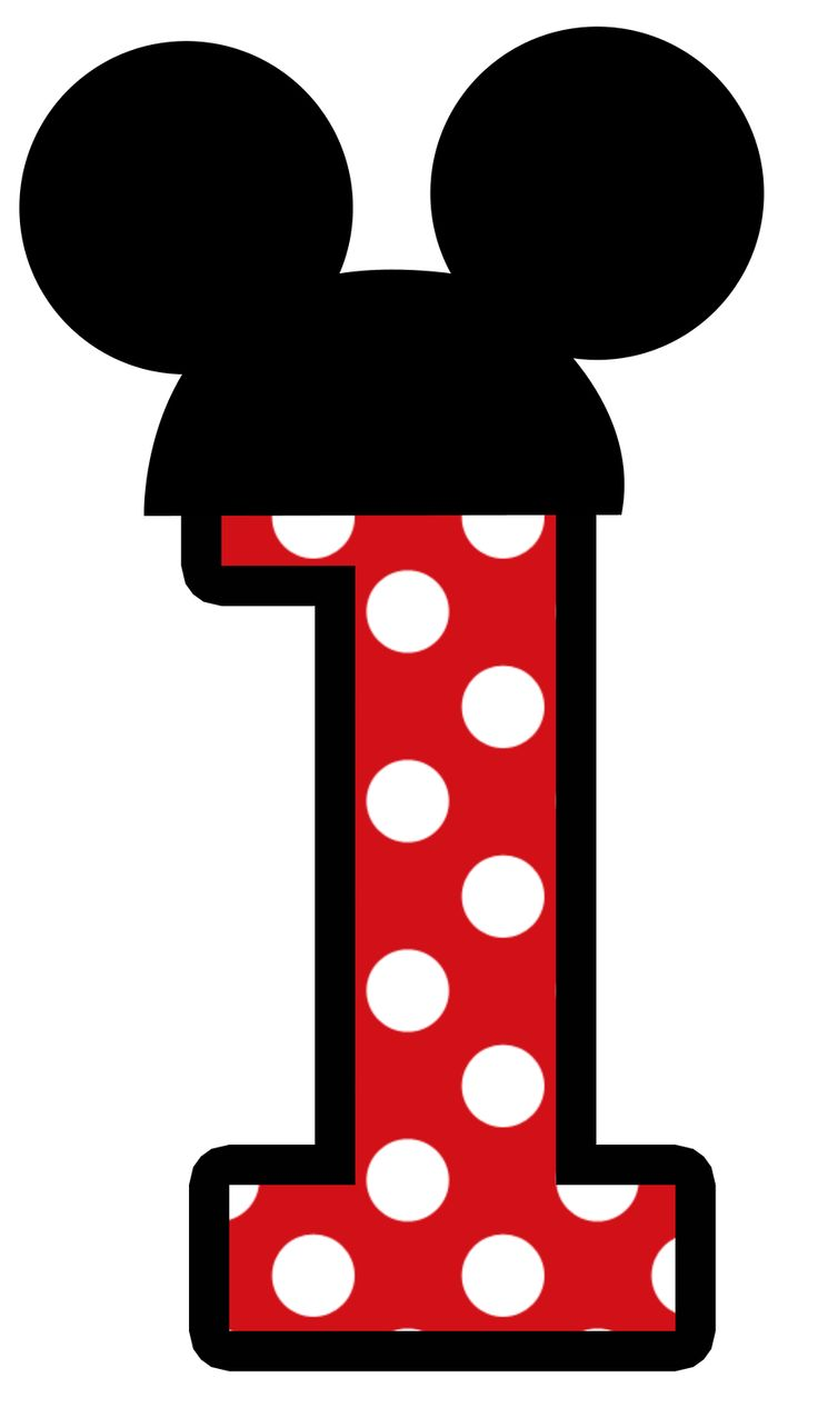 Mickey Mouse clipart one #1