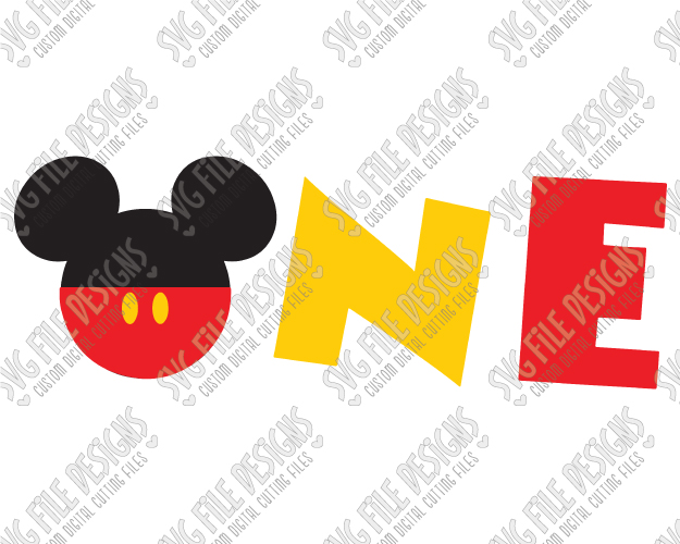 Mickey Mouse clipart one #12