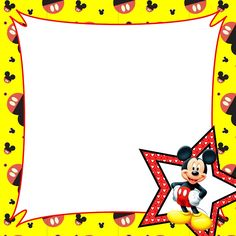 Mickey Mouse clipart page border Border Mouse Clipart Border Clipart