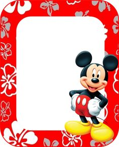 Mickey Mouse clipart page border Hecho Mickey: Frames or Invitations