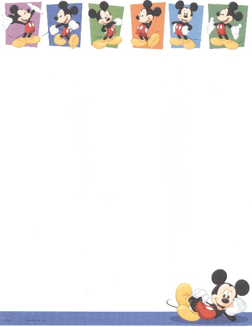Mickey Mouse clipart page border Border Borders Art Clip clipart