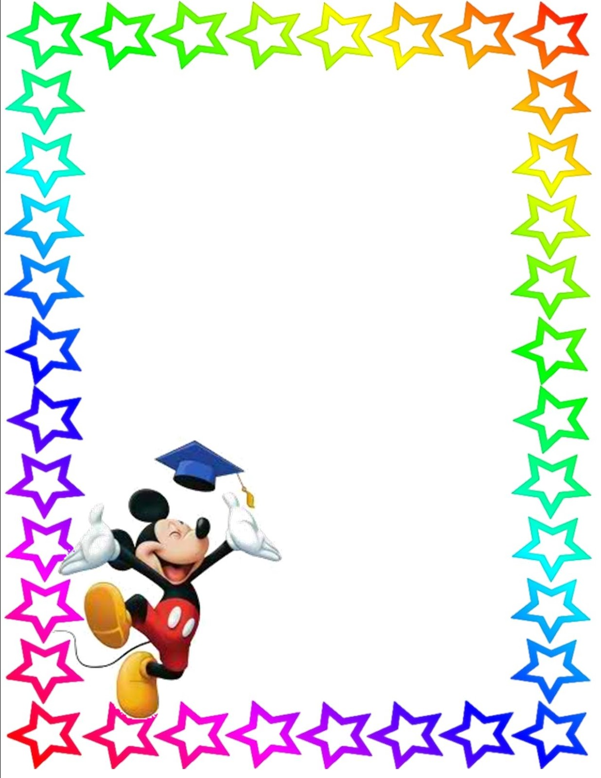 Mickey Mouse clipart page border Pic com/ Mouse Coordinating And