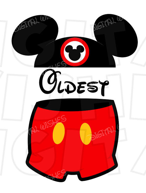 Mickey Mouse clipart pants #7