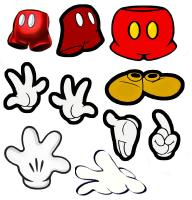 Mickey Mouse clipart pants #12