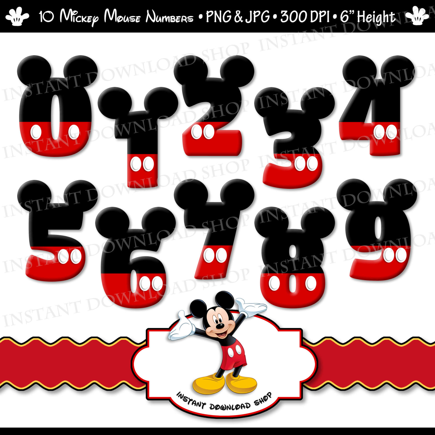 Mickey Mouse clipart part #4