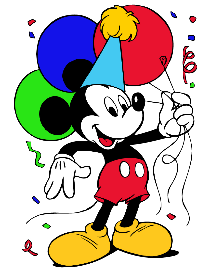 Mickey Mouse clipart part #2