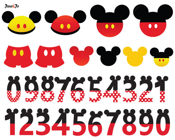 Mickey Mouse clipart part #14