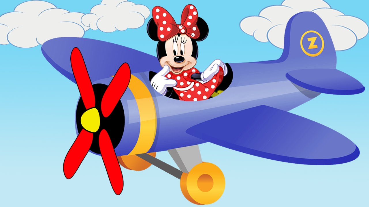 Airplane clipart mickey Mouse Finger family YouTube flying