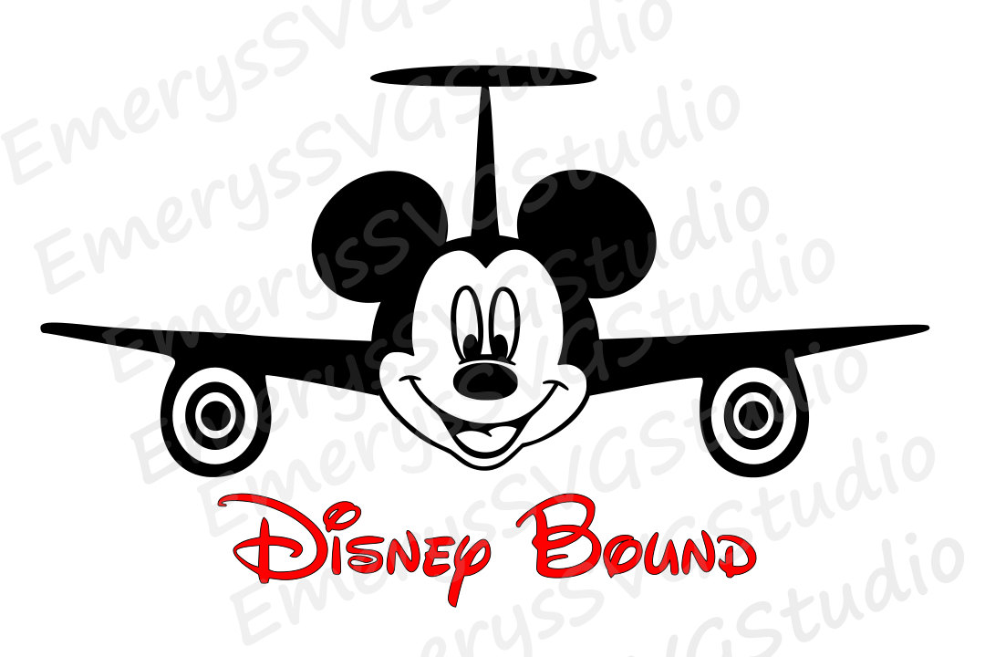 Airplane clipart mickey File Mickey File DXF Mickey