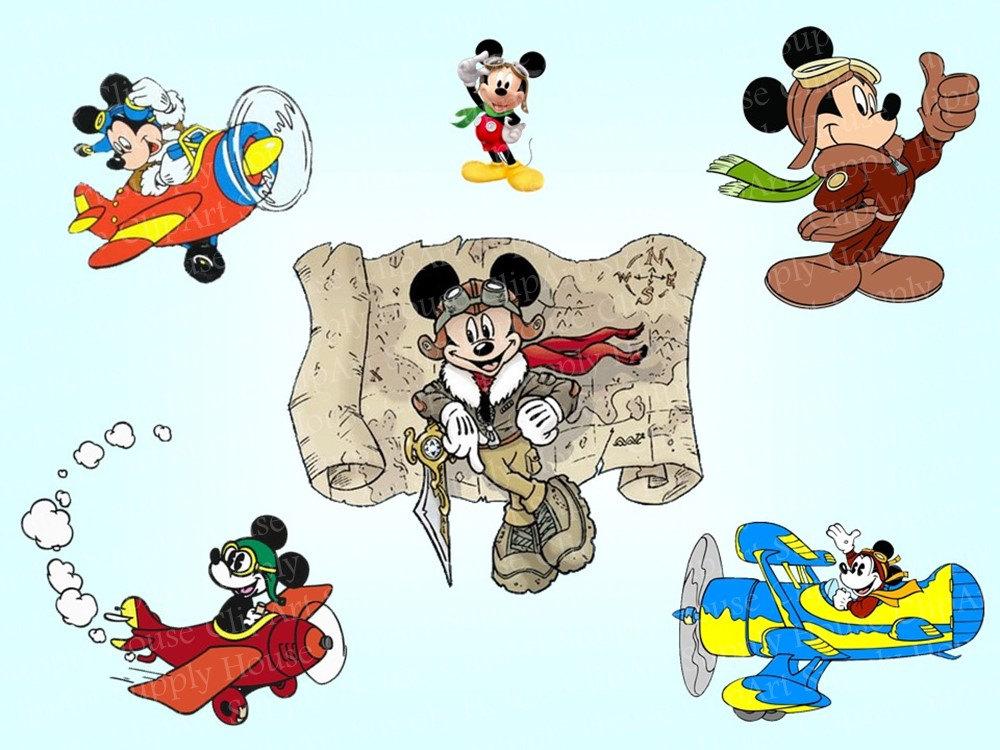 Airplane clipart mickey Airplane Mickey Pilot an Printable