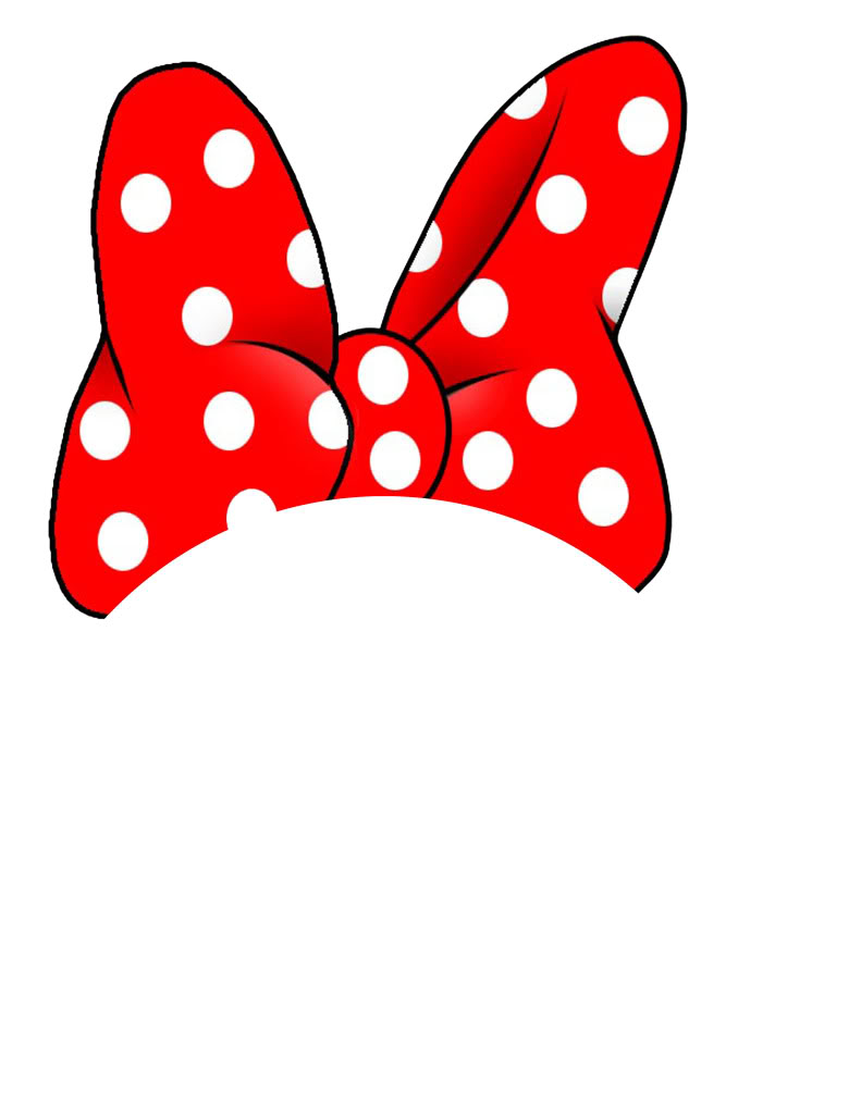 Ribbon clipart minnie mouse #2