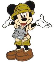 Mickey Mouse clipart safari Clipart Mickey Safari w/Binoculars 4