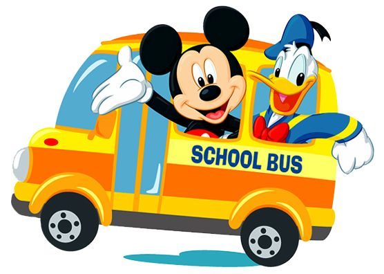 Mickey Mouse clipart school bus #3