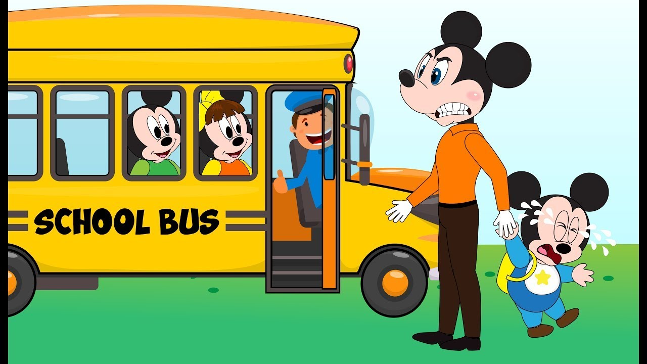 Mickey Mouse clipart school bus #13