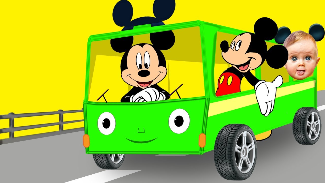 Mickey Mouse clipart school bus #12