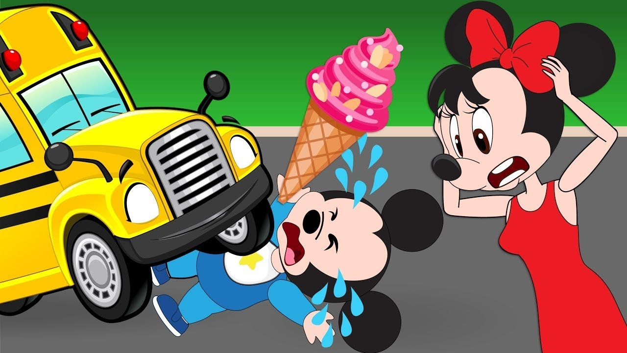 Mickey Mouse clipart school bus #14