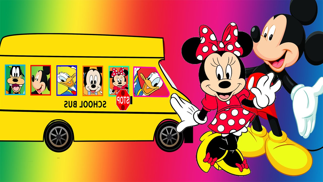 Mickey Mouse clipart school bus #15