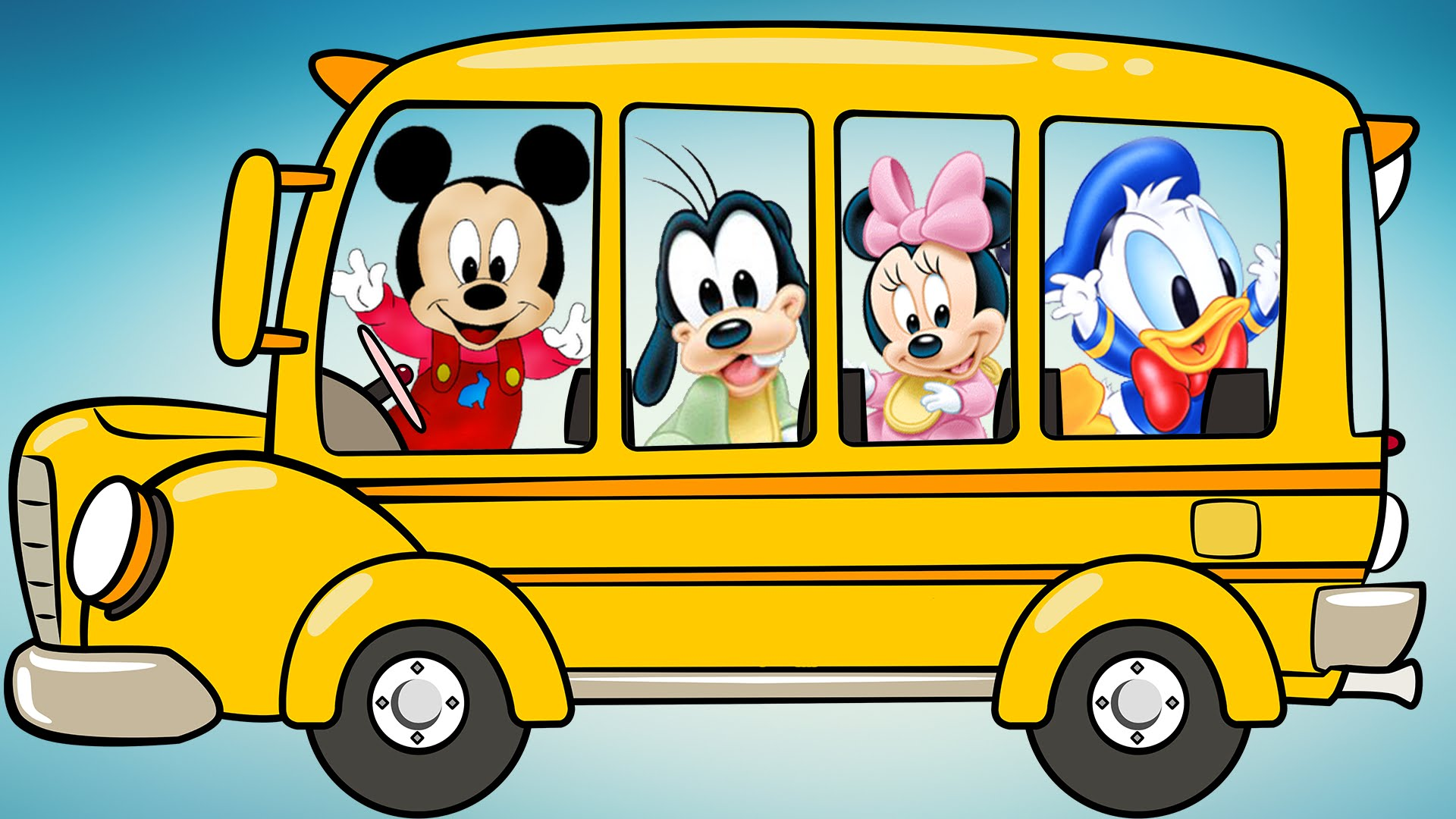 Mickey Mouse clipart school bus #6