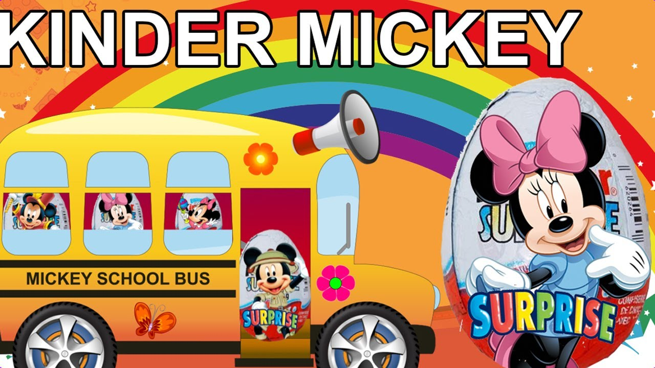 Mickey Mouse clipart school bus #8