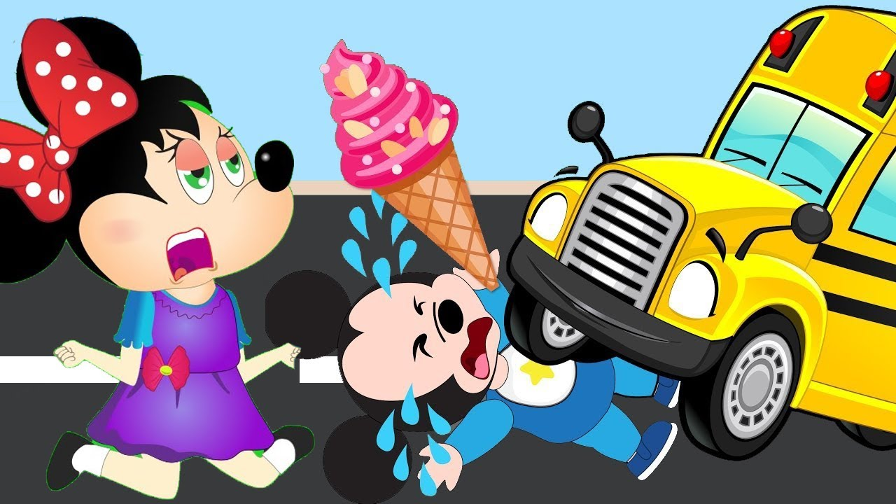 Mickey Mouse clipart school bus #7