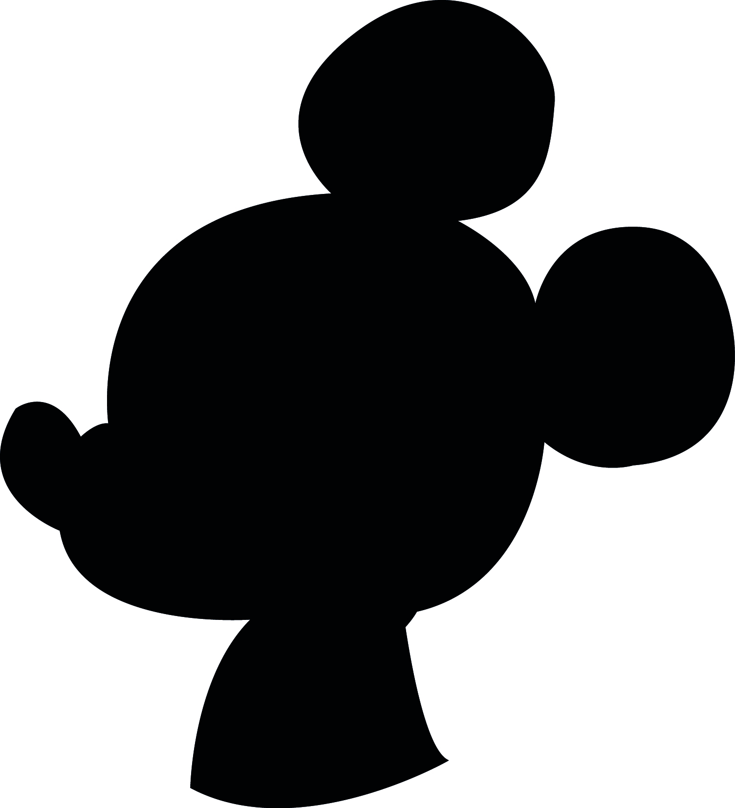 Shadow clipart mickey mouse #9