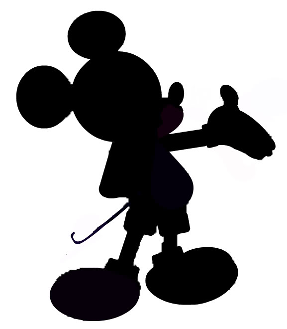 Shadow clipart mickey mouse #5