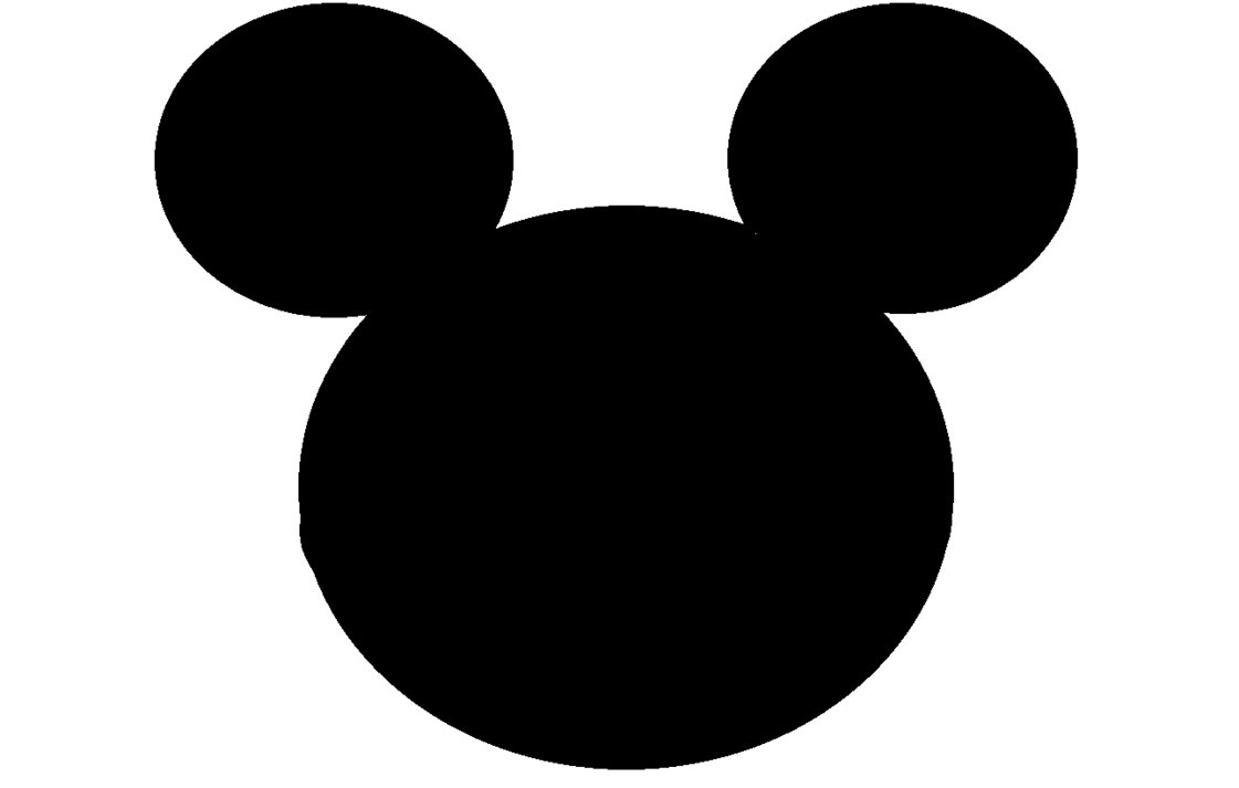 Mickey Mouse clipart shape #1