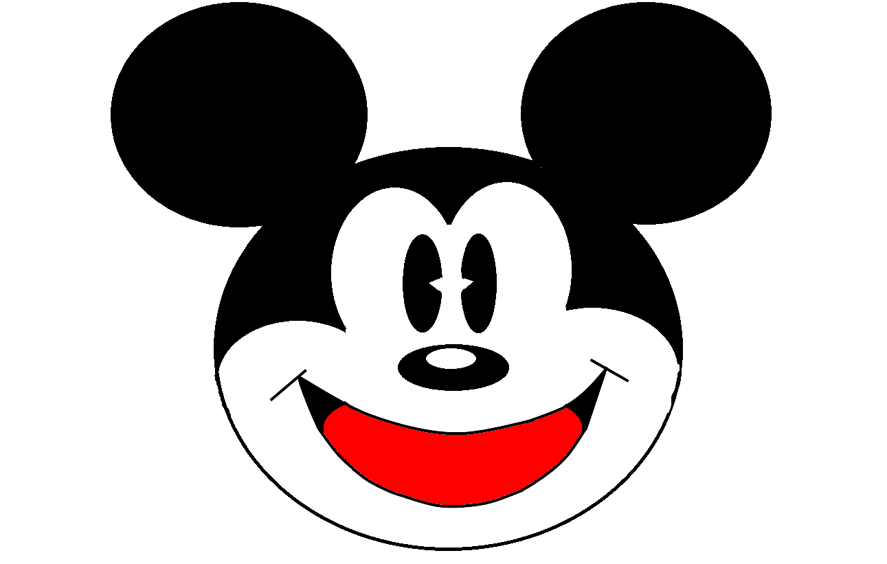 Mickey Mouse clipart shape #7