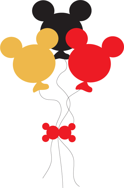 Mickey Mouse clipart shape #4
