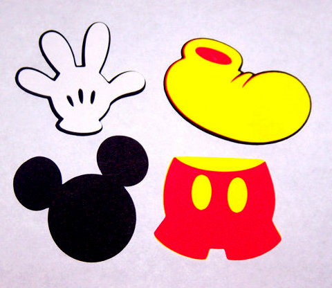 Mickey Mouse clipart shape #15