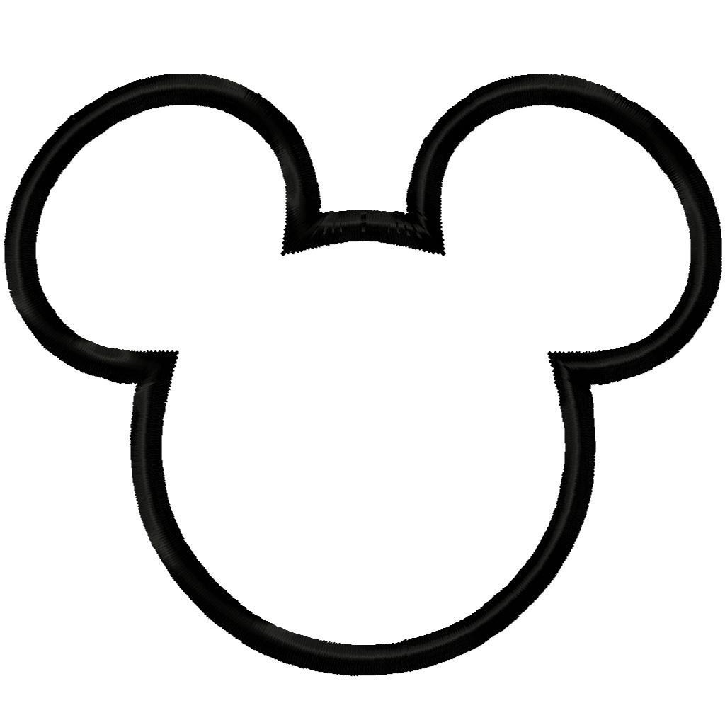 Mickey Mouse clipart shape #14