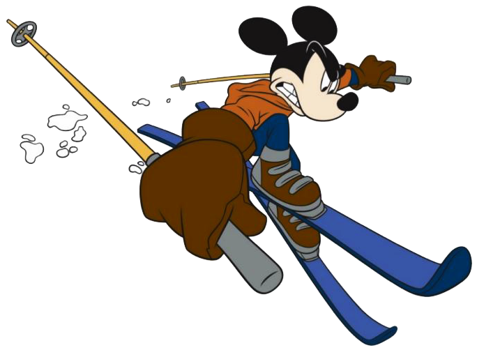 Mickey Mouse clipart ski #1