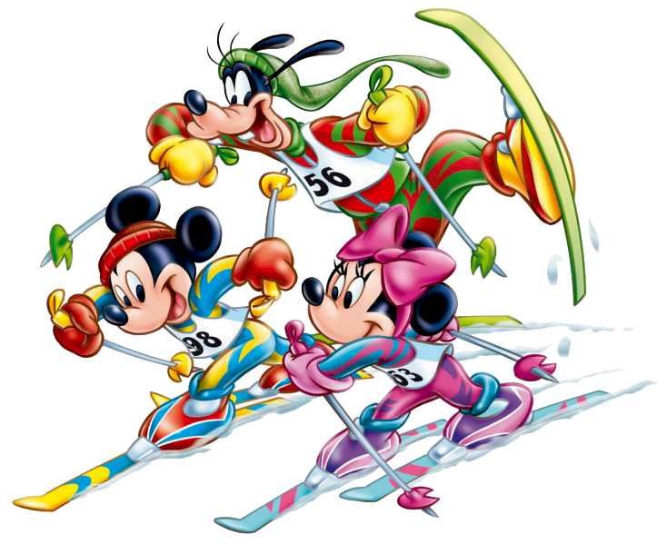 Mickey Mouse clipart ski #11
