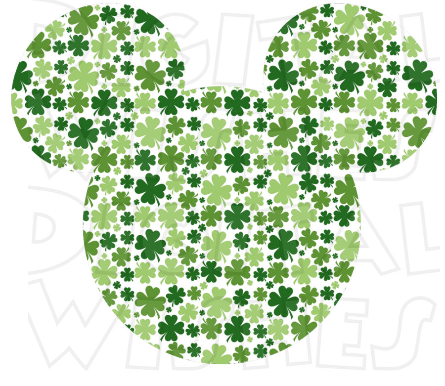Mickey Mouse clipart st patricks day St Has clip art INSTANT