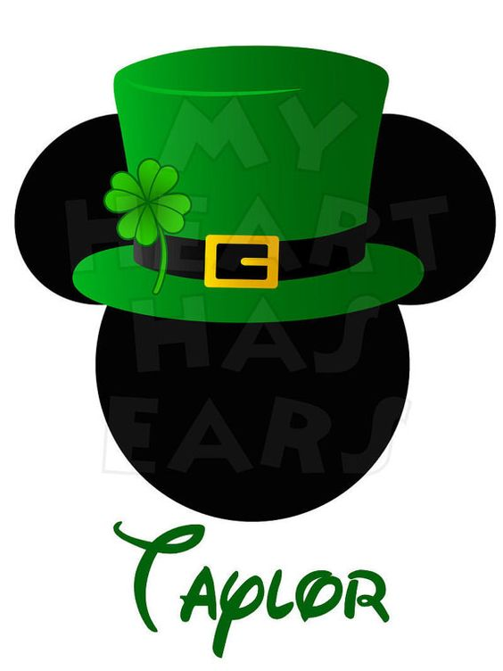 Mickey Mouse clipart st patricks day Printable Patrick's on transfer clip