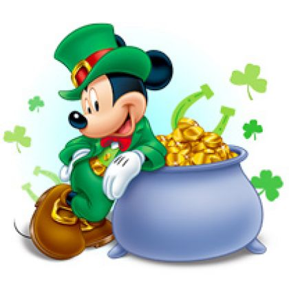 Mickey Mouse clipart st patricks day Springtime Disney Mickey Backgrounds St