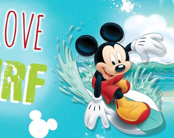Mickey Mouse clipart surfing Mouse Disney Etsy Live New