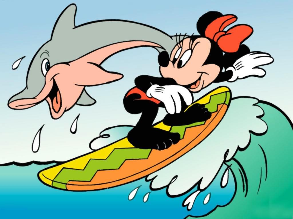 Mickey Mouse clipart surfing Cartoon Mickey Surfing Surfing Mickey