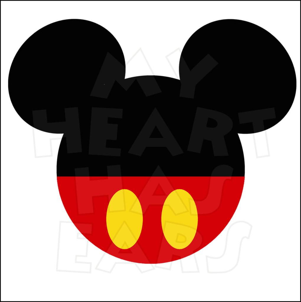 Original clipart art Panda Head mouse Mickey Mouse
