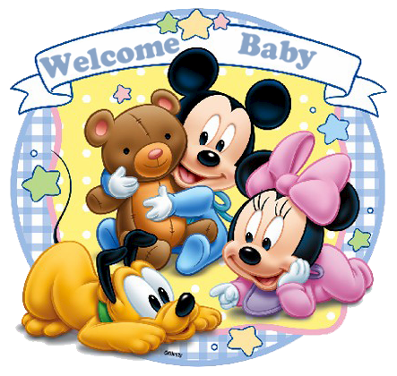 Mickey Mouse clipart welcome Disbabywelcome_zpsyiuevmgi babies photo minnie friends