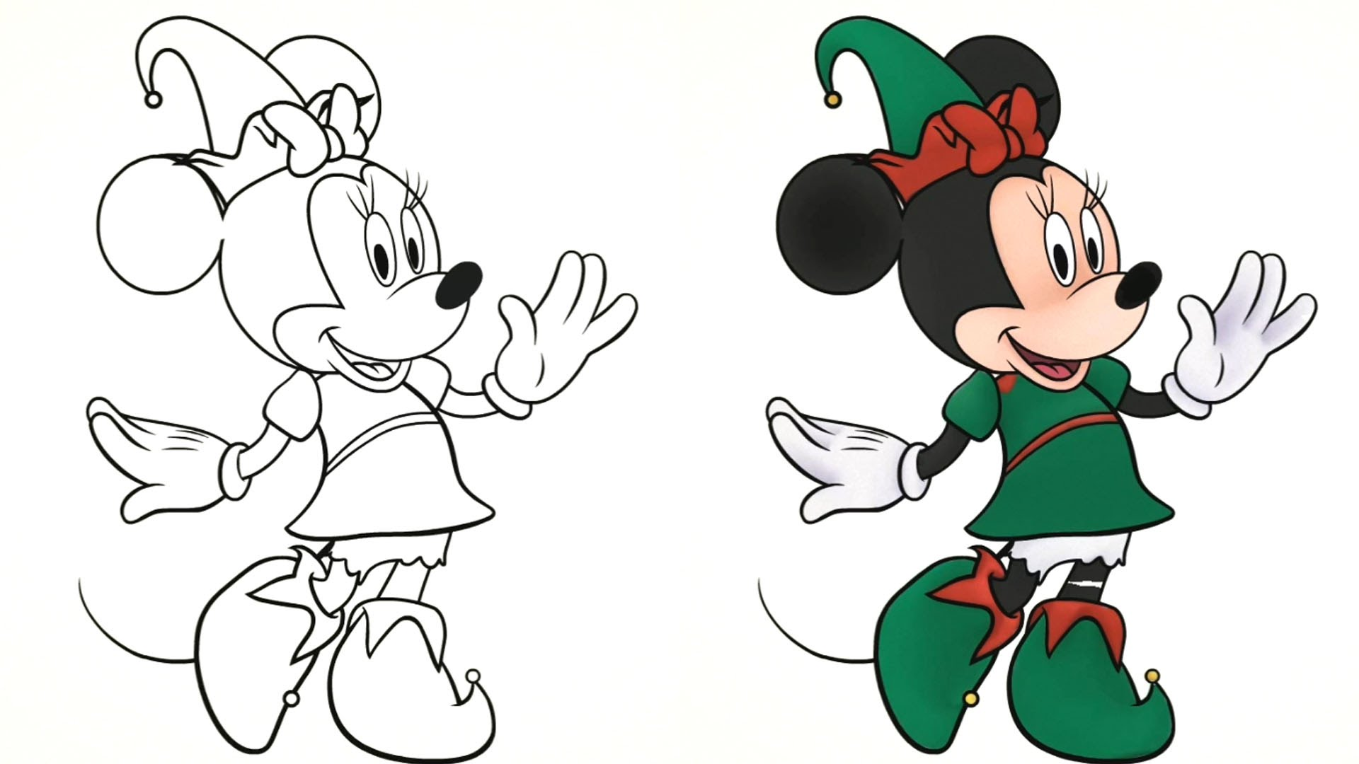 Winter clipart mickey mouse Coloring Winter Video Disney Mouse
