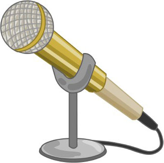 Microphone clipart at work #2