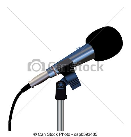 Microphone clipart cord illustration Clipart csp8593485 Microphone  on