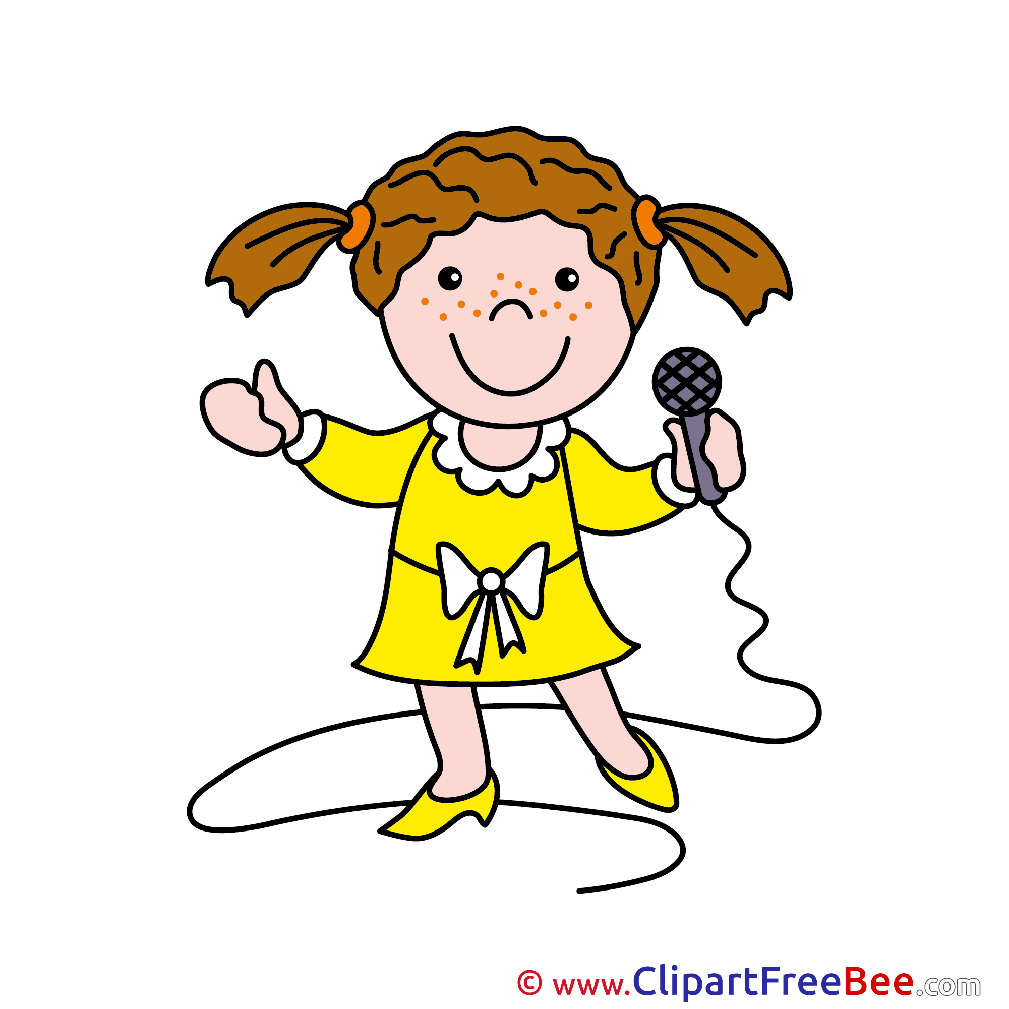 Microphone clipart happy Image Singer free Clipart download