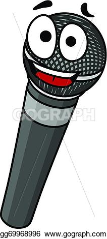 Microphone clipart happy Isolated Clipart handheld and with