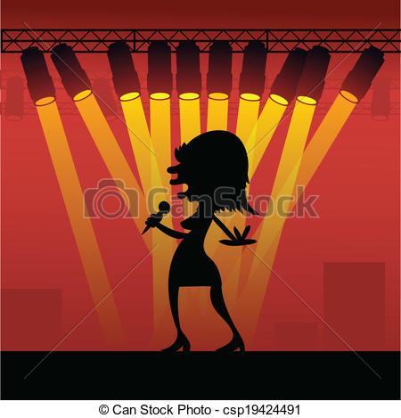 Microphone clipart pop concert Of Pop  of a