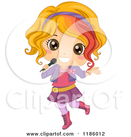 Microphone clipart rockstar Microphone microphone Girl with clipart