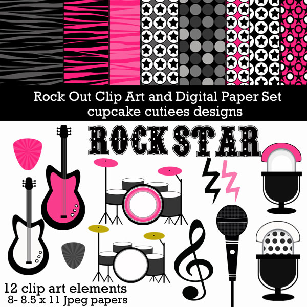 Microphone clipart rockstar On Microphone Birthdays images on